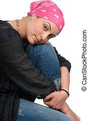 poitrine, survivant, cancer