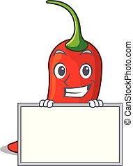 poivre, naturel, grimacer, chaud, planche, piment, dessin animé, rouges