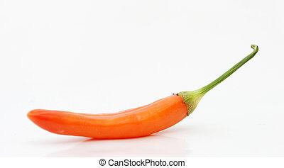 poivre, piment, rouge chaud