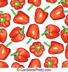 poivres, modèle, seamless, rouges