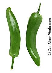 poivres, vert