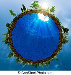 pojęcie, abstrakcyjny, środowiskowy, zielony, projektować, twój, świat