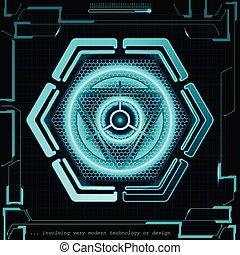 pojęcie, abstrakcyjny, ilustracja, tło., wektor, przyszłość, technologia
