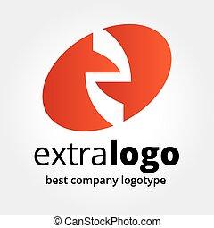 pojęcie, abstrakcyjny, logotype, odizolowany, wektor, tło, biały