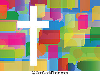 pojęcie, afisz, abstrakcyjny, krzyż, ilustracja,...