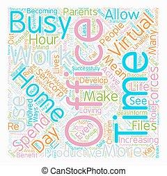 pojęcie, biuro, tekst, praca, faktyczny, wordcloud, tło, dom