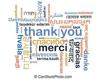 pojęcie, dziękować, wordcloud, multilanguage, tło, ty