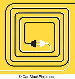 pojęcie, electricity., odłączenie, połączenie