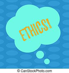 pojęcie, farbować fotografię, zasady, ads., formułować, moralny, czysty, pisanie, mowa, tekst, prezentacja, ethics., handlowy, inny, kwiatowy, słowo, utrzymując, równość, bańka, myśl, waga, posiadanie