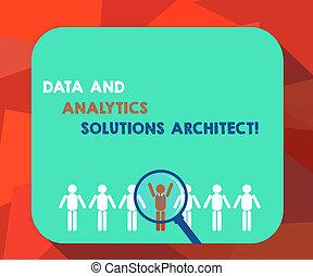pojęcie, figura, analysisagement, tekst, na, nowoczesny, analytics, architect., rozłączenia, kreska, milczki, do góry., wybrany, powiększający, pisanie, handlowy, hu, szkło, technologie, dane, człowiek, słowo, analiza