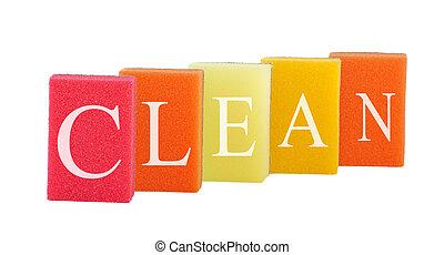 pojęcie, grupa, czysty, barwny, cleanliness., odizolowany,...