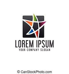 pojęcie, gwiazda, projektować, szablon, logo, wykształcenie