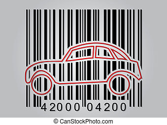 pojęcie, handlowy, barcode