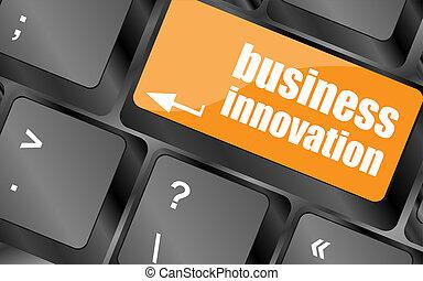 pojęcie, handlowy, innowacja, -, komputer, pojęcia, klawiatura