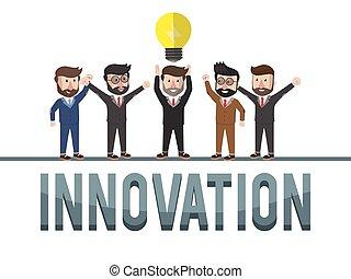 pojęcie, handlowy, innowacja