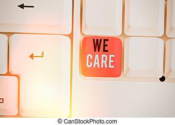 pojęcie, handlowy, needs., someones, tekst, słowo, udzielanie, care., że, pisanie, troska, miłując, życie, my, ich
