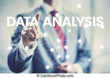 pojęcie, handlowy, spoinowanie, analiza, interfejs, dane, człowiek