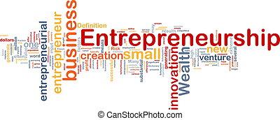 pojęcie, handlowy, tło, entrepreneurship