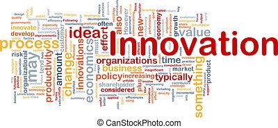 pojęcie, handlowy, tło, innowacja