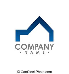 pojęcie, idea., wektor, projektować, nieruchomość, logo