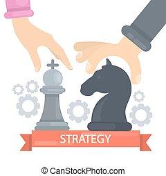 pojęcie, illustration., strategia