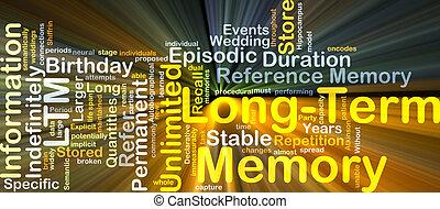 pojęcie, jarzący się, tło, pamięć, długoterminowy, ltm