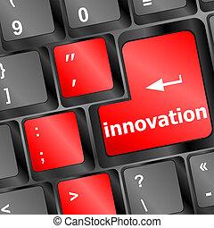 pojęcie, klawiatura, nowoczesny, text., innowacja, technologia