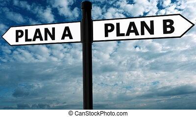 pojęcie, kolor, czarnoskóry, plan, biały, drogowskaz, b