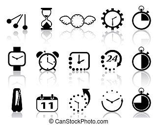 pojęcie, komplet, czasowe ikony