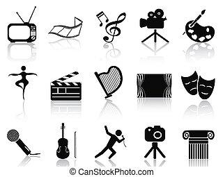 pojęcie, komplet, sztuka, ikony