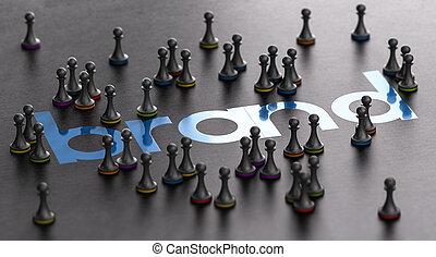 pojęcie, komunikacja, wryjcie lojalność, handel