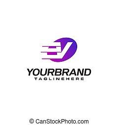 pojęcie, logo, abstrakcyjny, kwestia, mocna dostawa, projektować, litera, v, ruchomy, szybkość