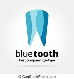 pojęcie, logotype, abstrakcyjny, odizolowany, ząb, wektor, tło, biały, stomatologiczny