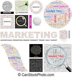 pojęcie, marketing., illustration.