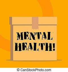 pojęcie, mentalny, poziom, tekst, wellbeing, treść, psychologiczny, demonstrating., stan, pismo, albo, health.
