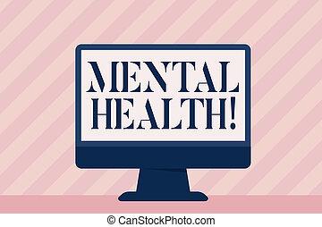 pojęcie, mentalny, tekst, wellbeing, psychologiczny, demonstrating., treść, emocjonalny, pismo, warunek, health.