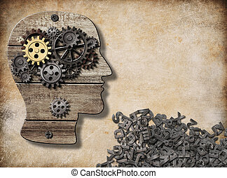 pojęcie, mentalny, ustny, mózg, działalność, wzór