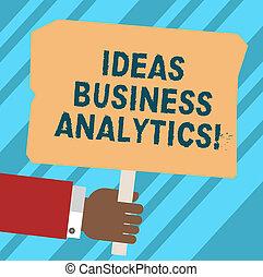 pojęcie, metodyczny, fotografia, czysty, pojęcia, pisanie, dzierżawa, tekst, handlowy, space., ręka, wtykać, słowo, hu, dane, plakat, barwny, analytics., analiza, s, badanie, organizacja