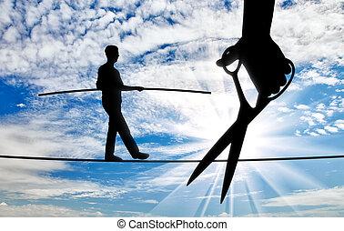 pojęcie, od, niebezpieczeństwo, i, ryzyka, w, handlowy