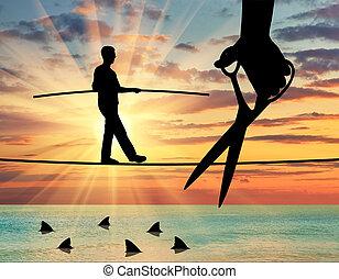 pojęcie, od, ryzyka, i, niebezpieczeństwa, w, handlowy