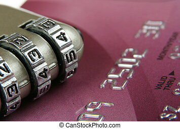 pojęcie, padlock-, do góry, kredyt, zamknięcie,...