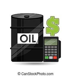 Pojęcie, Pieniądze, kalkulator, nafta, Planowanie, baryłka