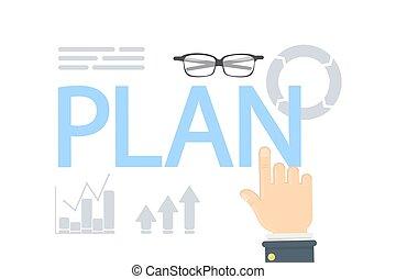 pojęcie, plan, illustration.