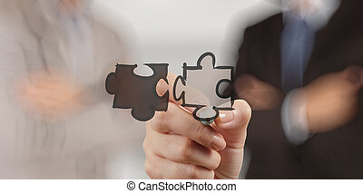 pojęcie, pokaz, współudział, ręka, biznesmen, znak, zagadka