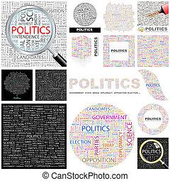 pojęcie, politics., illustration.