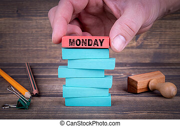 pojęcie, poniedziałek, handlowy