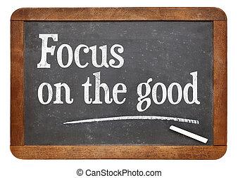 pojęcie, positivity, dobry, -, ognisko