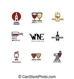 pojęcie, restauracyjny jadłospis, wektor, logo, bar
