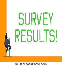 pojęcie, słowo, handlowy, tekst, pisanie, data., przegląd, wynik, statystyczny, działalność, results., collects, albo, acquires