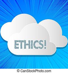 pojęcie, słowo, handlowy, tekst, pisanie, principles., ethics., moralny, inny, równość, waga, posiadanie, utrzymując